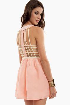 Cage Back Skater Dress