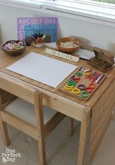 Playful Learning Spaces - Create a Literacy Table - One Perfect Day