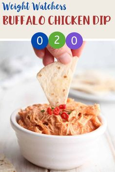 This buffalo chicken dip is zero Smart Points per serving on Weight Watchers Freestyle plan. Made with 4 ingredients, it couldn't be easier to make. A perfect WW snack recipe. # Food and Drink healthy buffalo chicken Buffalo Chicken Dip Weight Watchers Snacks, Weight Watcher Dinners, Poulet Weight Watchers, Plats Weight Watchers, Weight Watchers Meal Plans, Weight Watchers Chicken, Weight Watchers Smart Points, Weight Loss, Recipes