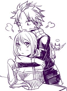 Tags: Fanart, Sketch, FAIRY TAIL, Pixiv, Natsu Dragneel, Lucy Heartfilia, Happy (FAIRY TAIL), Fanart From Pixiv, Pixiv Id 1942543
