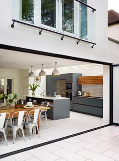 Roundhouse kitchen/living spaces