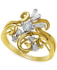 EFFY Diamond Statement Ring in 14k Gold (1/2 ct. t.w.) | macys.com