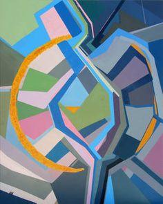 "Saatchi Art Artist Angela Monteiro; Painting, ""Spherical Symbol "" #art 39.4 H x 31.5 W $900"