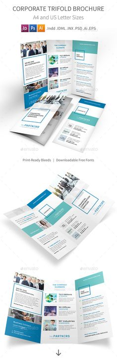 buy corporate trifold brochure by mike_pantone on graphicriver corporate trifold brochure clean and modern tri fold brochure for your corporate company and