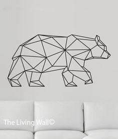 Geometric Bear Wall Decal, Geometric Animals Decals, Home Decor Wall Decals, Geometrics Vinyl Wall Stickers