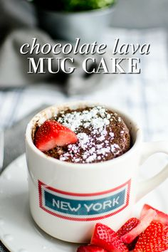 Chocolate Lava Mug Cake - A Grande Life