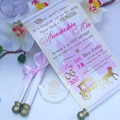 Royal Princess Carriage Scroll Invitation Birthday Wedding Invitation Handmade Prince Invitation Christening Birth Announcement (Set of Disney Wedding Invitations, Princess Invitations, Handmade Wedding Invitations, Photo Invitations, Baptism Invitations, Birthday Invitations, Cinderella Invitations, Disney Princess Party, Princess Theme