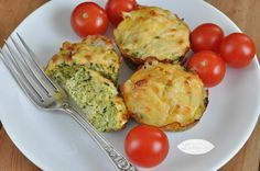 muffins brocoli y queso Skinny, Fritters, Baked Potato, Veggies, Cooking, Breakfast, Ethnic Recipes, Food, Lema