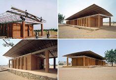 Kéré Architecture :: Secondary School / Dano / Burkina Faso Technique: Cut blocks Laterite