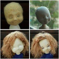 Формирование головы текстильной куклы (Ирина Хочина)