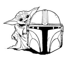 Baby Yoda Coloring Pages Free Printable | WONDER DAY Coloring Pages For Girls, Colouring Pages, Coloring Sheets, Coloring Books, Coloring Stuff, Yoda Drawing, Star Wars Colors, Star Wars Pictures, Line Work Tattoo