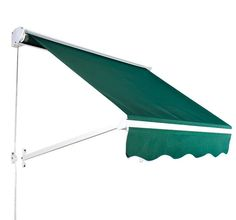 Features:  -Awning opens smoothly and quietly.  -The pre-drilled holes and included mounting hardware make installation a snap.  -You can mount this awning on walls, above doors, or anywhere you need
