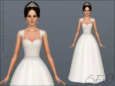 Wedding Dress #7 by Beo2010 http://www.thesimsresource.com/downloads/1196651