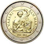2 euro 500th Anniversary of the birth of Giorgio Vasari - 2011 - Series: Commemorative 2 euro coins - San Marino