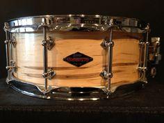 """5.5"""" Rare figured maple Craviotto snare drum"""