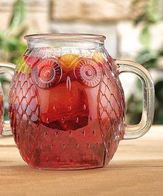 Look what I found on #zulily! Owl Glass Mug - Set of Four #zulilyfinds