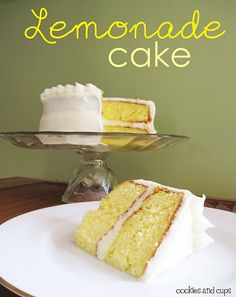 Lemonade Cake!  Perfect for Easter :)