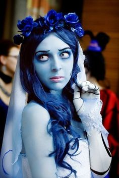 Corpse Bride Halloween costume, use these contacts  http://www.pinkyparadise.com/mobile/Product.aspx?ProductCode=F24-F33-2