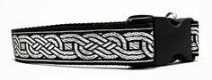 Silver Celtic Knot Dog Collar