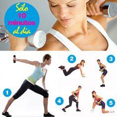 ¡Objetivo Brazos Firmes! 10 minutos de ejercicio al día para unos brazos firmes  #belleza #brazos