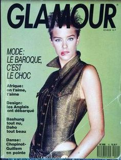 GLAMOUR France - Nº 10 - February 1989 80s And 90s Fashion, Fashion Outfits, Glamour France, Vintage Glamour, Digital Camera, Supermodels, Cover, February, Goth