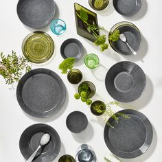 iittala Teema Dotted Grey Dinnerware A tried and true classic gets a new look. Teema's traditional grey glaze is speckled with a lighter hue, adding dreamy dimension to the smooth surface.