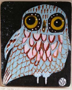 pale blue owl by Sally Wolfe