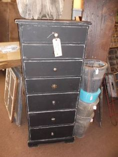 SOLD - This 7 drawer dresser has been painted in chalkboard paint - a fun addition to any child's room.  ***** In Booth D1 at Main Street Antique Mall 7260 E Main St (east of Power RD on MAIN STREET) Mesa Az 85207 **** Open 7 days a week 10:00AM-5:30PM **** Call for more information 480 924 1122 **** We Accept cash, debit, VISA,