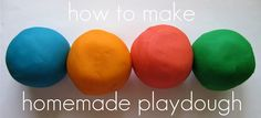 How to make homemade playdough - this recipe is a cook recipe, but it is so soft and lasts forever if stored well!