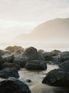 The beauty of a gloomy Oregon coastline by Katie Nicolle Photography | Wedding Sparrow