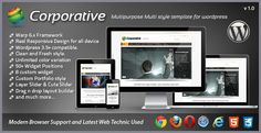 Buy Corporative Responsive Wordpress Template by bdthemes on ThemeForest. Corporative Responsive Wordpress Template For Any Kind of site (Multipurpose) Ready for any type of corporate c. Joomla Templates, Wordpress Template, Wordpress Theme, Google Web Font, Browser Support, Responsive Layout, Admin Panel, Design Strategy, Drupal