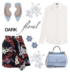 """"" by ivka-detektivka ❤ liked on Polyvore featuring Joseph, MSGM, Le Silla, Dolce&Gabbana and darkflorals"