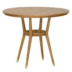 Constructed from teak and brass