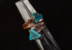 Copper or sterling turquoise Ring-Raven by HummingBirdEggs on Etsy
