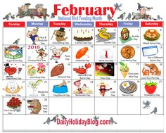 february holiday calendar Daily Holidays, February Holidays, Weird Holidays, National Holidays, Unusual Holidays, National Holiday Calendar, Calendar Journal, Work Calendar, Calendar Ideas