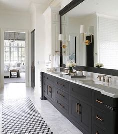 This vanity is a great scale in comparison to the room. It makes it look longer and bigger.