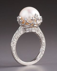 Penny Preville pearl and diamond ring @Rebecca Flemister i thought pf you not exactly but am i close?