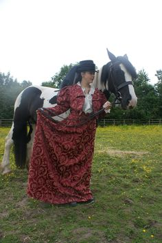 Victorian Riding skirt & Eton Jacket available on Etsy - Perfect skirt/horse color combo!