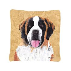 Caroline's Treasures Saint Bernard Indoor/Outdoor Throw Pillow | Wayfair