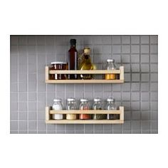 I might get 6 for the kitchen,1 for spare bathroom maybe to hold towel too.BEKVÄM Spice rack, birch - IKEA