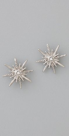 palladium-plated snowflake studs with crystal accent required immediately