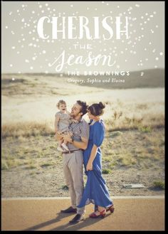 Love this family holiday card design. This'll be us next year!