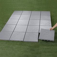 Patio Tiles turned expandable and collapsable dance floor for outside