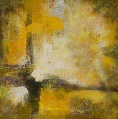Abstracto amarillo 90x90 Acrílico
