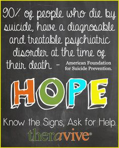 Suicide Awareness Week: Know More - Help a Teen Today