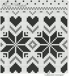This is such a pretty pattern, with many ways to use. I know I can think of something adorable and pretty. Tapestry Crochet Patterns, Fair Isle Knitting Patterns, Knitting Charts, Knitting Designs, Knitting Stitches, Knitting Projects, Crochet Chart, Knit Crochet, Little Cotton Rabbits