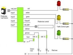 4 way traffic lights diagram tech gadgets microcontroller operated traffic lights electronic schematicselectronic