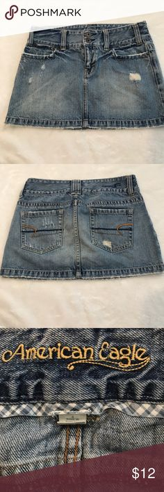 American eagle distressed miniskirt American eagle distressed miniskirt size for 11 1/2 inches long American Eagle Outfitters Skirts Mini