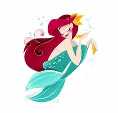 This print is a digital reproduction of an artwork piece originally made with paper-cut techniques. It's printed on fine art paper, numbered and signed by me! Disney Fan Art, Disney Style, Disney Pixar, Walt Disney, Ariel Mermaid, Ariel The Little Mermaid, Elsa, Disney Artists, Disney Cartoons