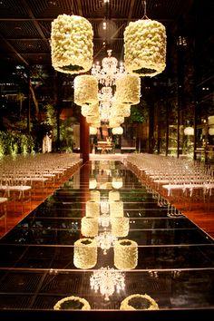 Romantic wedding setup
